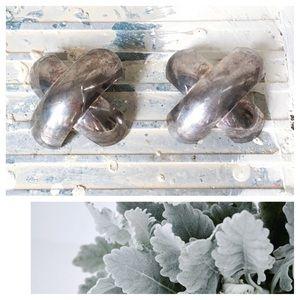❗️🆕❗️ Vintage Silver Art Deco Style X Earrings